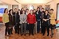 Acompañada por la ministra de Cultura, Claudia Barattini, la Presidenta Michelle Bachelet, asistió a un desayuno organizado por la Corporación de Actores de Chile, en su sede gremial (14931901637).jpg