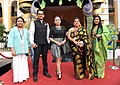 Actress, Zerifa wahid and actor Kopil Bora and other cast of 'DWAAR' on Red Carpet, at the 46th International Film Festival of India (IFFI-2015), in Panaji, Goa on November 25, 2015.jpg