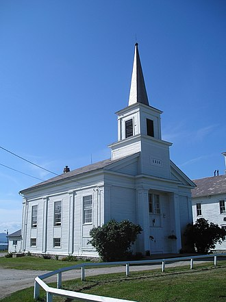 National Register of Historic Places listings in Addison County, Vermont - Image: Addison Comm Baptist Church