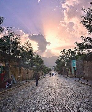 Adigrat - Street scene.