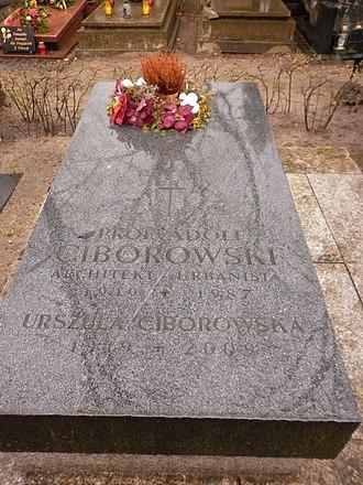 Adolf Ciborowski - Grave of Ciborowski at Powązki Military Cemetery in Warsaw