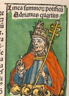 Pope Adrian IV Pope from 1154 to 1159