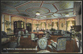 RMS Adriatic (1906) - Image: Adriatic, reading and writing room