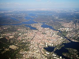 Aerial view of Potsdam
