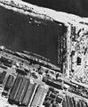 Aerial reconnaissance photo of German heavy cruiser Seydlitz at Bremen on 8 May 1942 (NH 91659).jpg