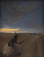 Evening. Death and the Old Woman
