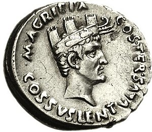 Naval crown - Image: Agrippa wearing Naval Crown
