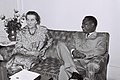 Ahmadou Ahidjou with Golda Meir.jpg