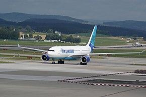 Airbus A330 d'Air Caraïbes à l'aéroport de Zurich.