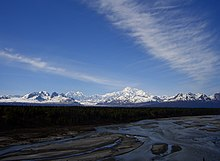 View of Alaska Range from Denali National Park