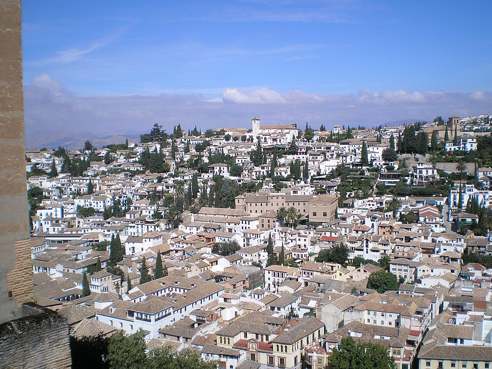 Vista do Albaicín desde a Alhambra