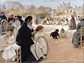 Albert Edelfelt (1854–1905)- The Luxembourg Gardens, Paris - Pariisin Luxembourgin puistossa (29614654616).jpg