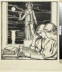 Ateneum-lehden kansiehdotus, julkaisija Wentzel Hagelstam (takakannen kuva)