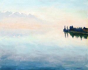 Le lac Léman vu de Montreux
