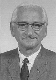 Albert Sabin, creator of the oral polio vaccine.