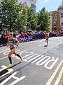 Albina Mayorova (Russia) Jessica Augusto (Portugal) - London 2012 Women's Marathon.jpg