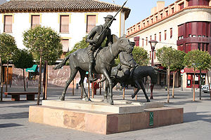 Don Quixote and Sancho Panza in Alcázar