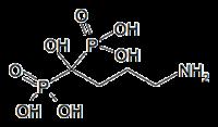Struktur von Alendronsäure