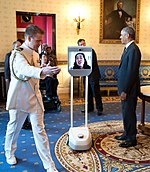 Alice Wong participated at the 25th anniversary of the Americans With Disabilities Act via robot (cropped).jpg