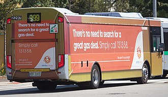Wrap advertising - Wrap advertising on a Transperth Volvo B7RLE in Perth