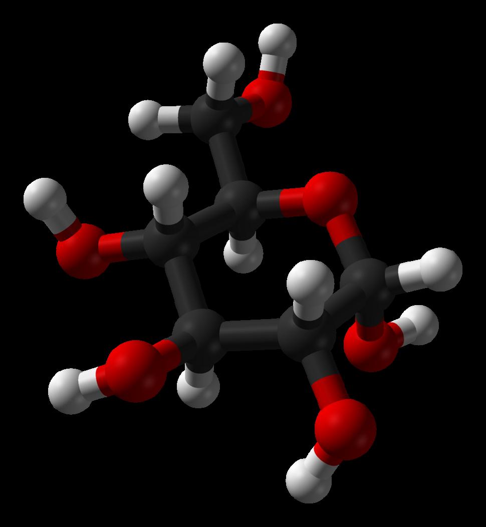 Alpha-D-glucose-from-xtal-1979-3D-balls