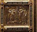 Altare di s. ambrogio, 824-859 ca., retro di vuolvino, storie di sant'ambrogio 12 ambrogio predica ispirato dall'angelo.jpg