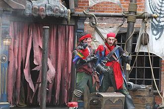 Alton Towers - Mutiny Bay's pirates