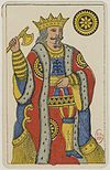 Aluette card deck - Grimaud - 1858-1890 - King of Coins.jpg