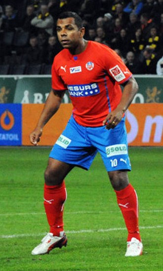 Álvaro Santos - Santos playing for Helsingborgs IF