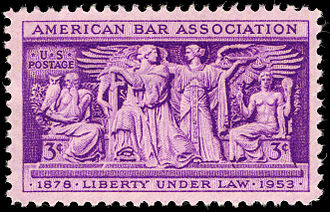 American Bar Association - U.S. stamp commemorating the ABA's 75th anniversary in 1953