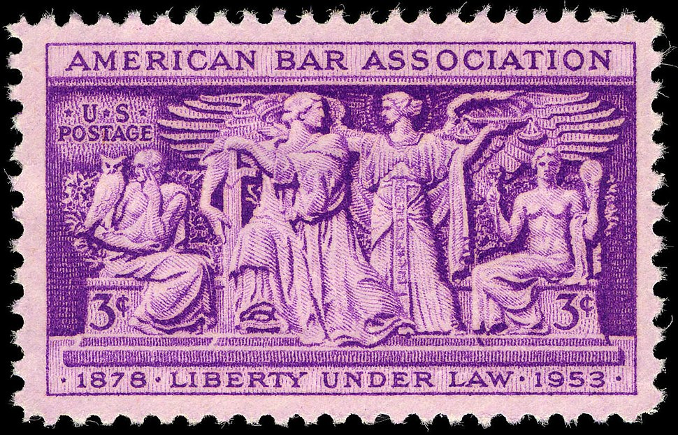 American Bar Association 3c 1953 issue U.S. stamp