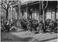 American Expeditionary Force correspondents. (African American) band playing in the gardens of the . . . - NARA - 533607.tif