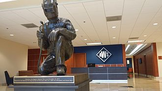 American Welding Society - This sculpture sits in the lobby of the American Welding Society headquarters.