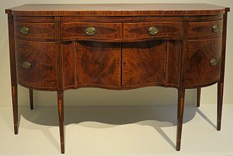 Conservation and restoration of wooden furniture - American sideboard, late 18th century, Honolulu Museum of Art, 3407.1