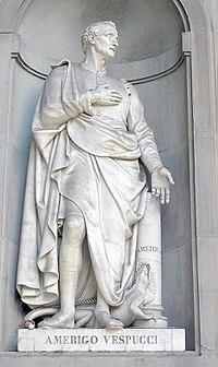 Άγαλμα του Βεσπούκι στη Φλωρεντία