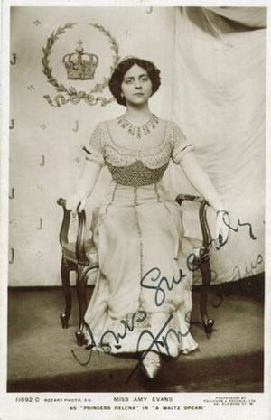 Amy Evans - Amy Evans in A Waltz Dream in 1911