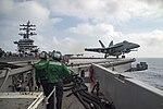 An F-A-18E Super Hornet launches from USS Dwight D. Eisenhower. (27859769842).jpg