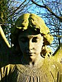 An angelic face in the cemetery, Kingston Lisle - geograph.org.uk - 666895.jpg