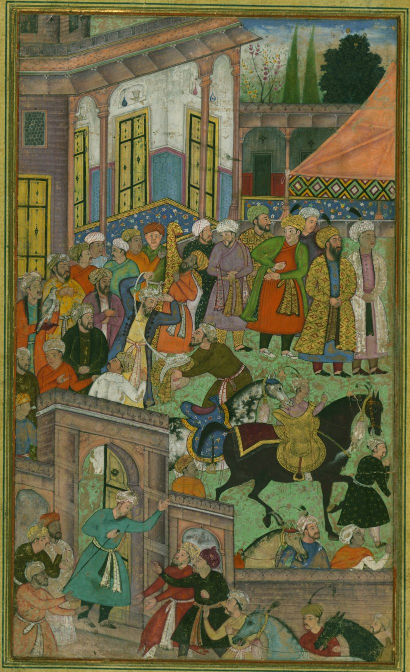 An awards ceremony in the Sultan Ibrāhīm's court before being sent on an expedition to Sambhal