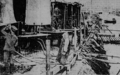 An outpost of the medical battlefront - a distilling plant furnishing safe drinking water to British soldiers in Flanders.png