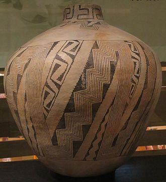 Red Mesa, Arizona - Red Mesa black on white storage jar, 870-1000 CE, Heard Museum.