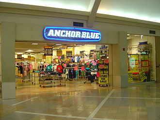 Anchor Blue Clothing Company - An Anchor Blue store conducting a liquidation sale in 2011.