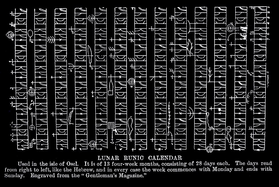 Ancient runic calendar from Sāmsala