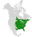 Ancyloxypha numitor range map.PNG