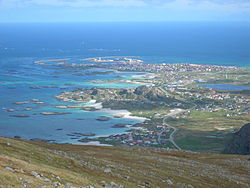 View of the village of Andenes in Andøy