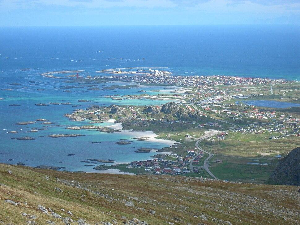 View of Andenes (seen from Mount Røyken)