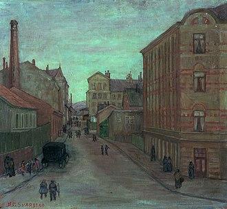 Anders Castus Svarstad - Image: Anders Svarstad Gateparti 1922 Oslo Museum OB.01231