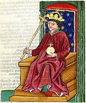 Andrew III of Hungary - Andrew depicted in the Chronica Hungarorum