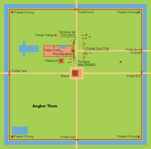 Angkor Thom - Map of Angkor Thom