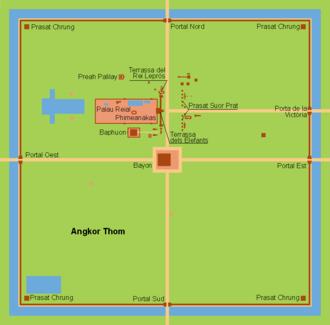 Angkor Thom - Map of Angkor Thom